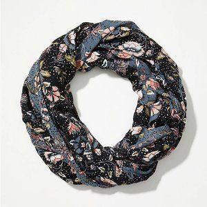 LOFT | Black Floral Infinity Scarf